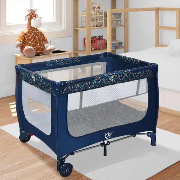 Portable Baby Playpen Play Yard Crib with Mattress Foldable Design