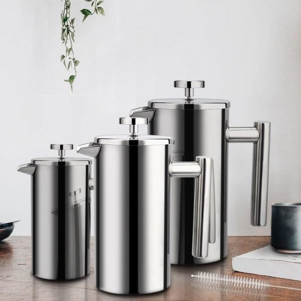 French Press Coffee Maker Stainless Steel | Zincera